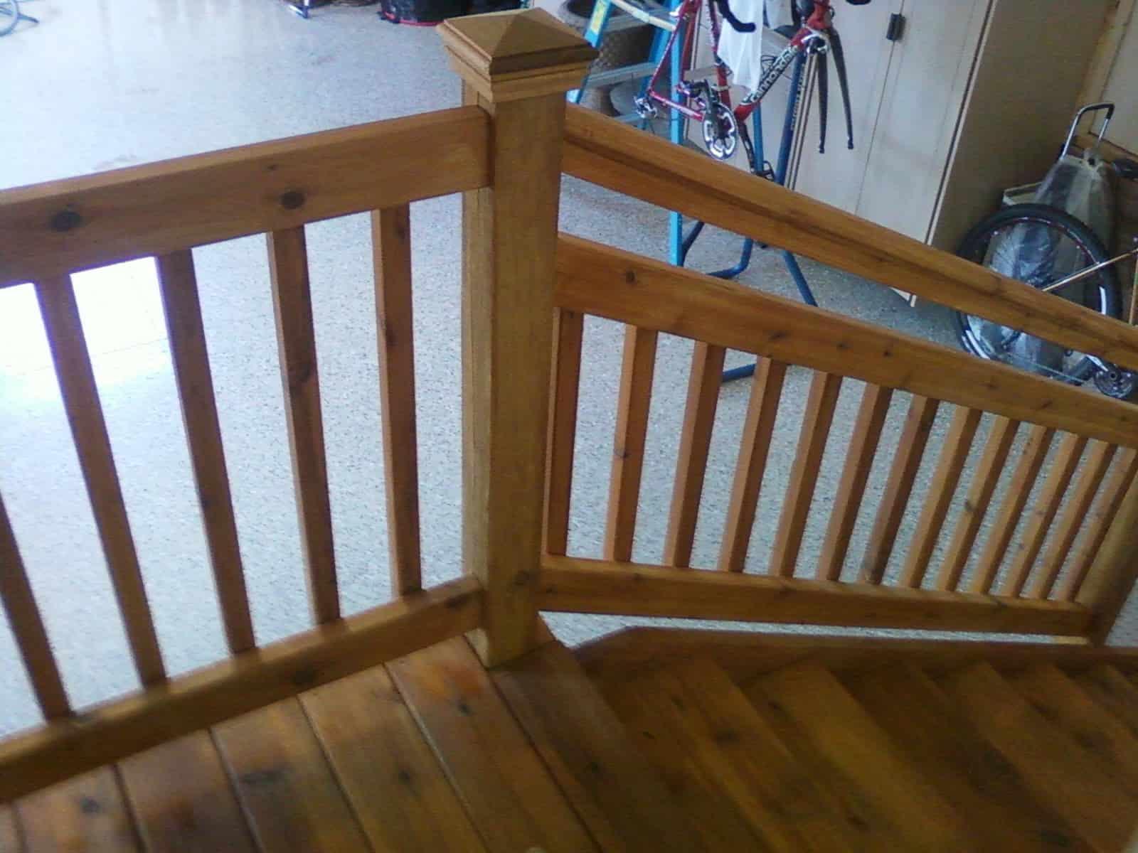 Cedar Steps deck railing